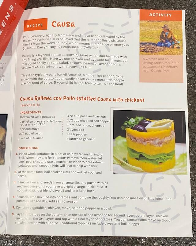 Causa Rellena con Pollo recipe