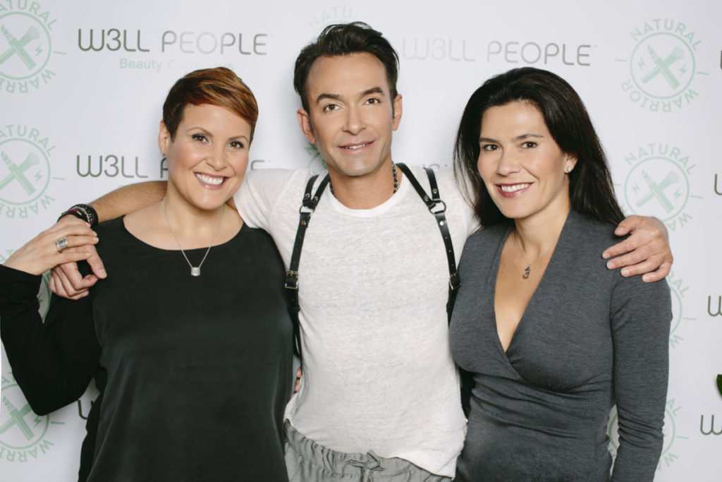 W3LL PEOPLE Founders (L to R): Elite makeup artist and former NARS Corporate Leader Shirley Pinkson; tree hugging entrepreneur James Walker; cosmetic dermatologist Reneé Snyder, M.D.