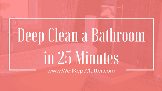 Learn how to clean a bathroom quick while maintaining quality,