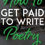 How to get paid to write poetry pinterest pin