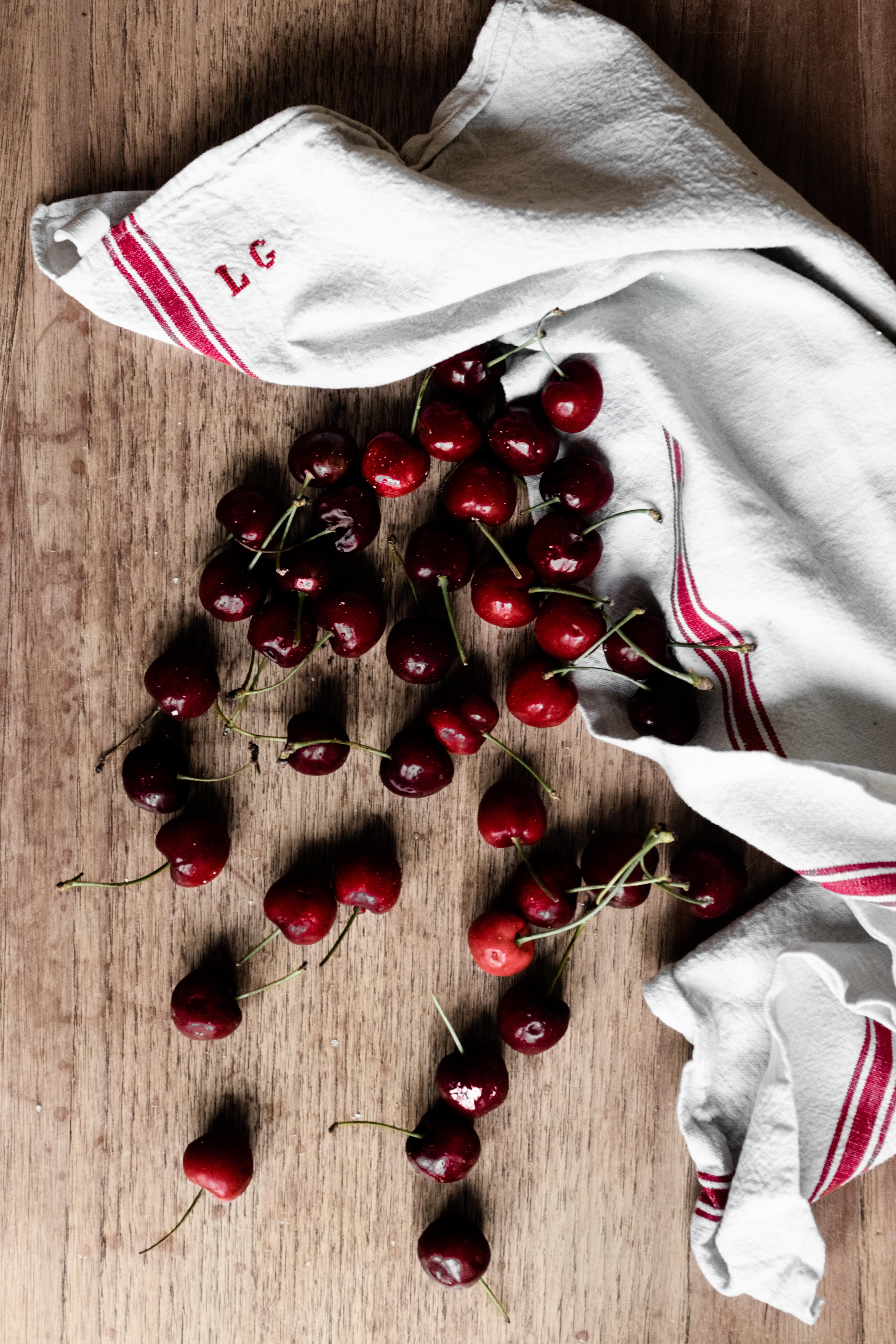 spilled cherries