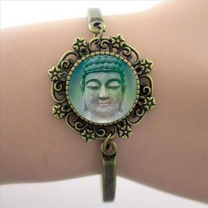 Armband Wheel of Dharma groen