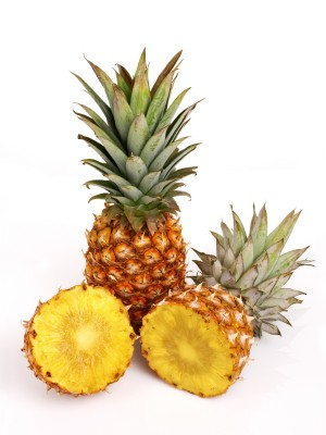 cut up pineapple