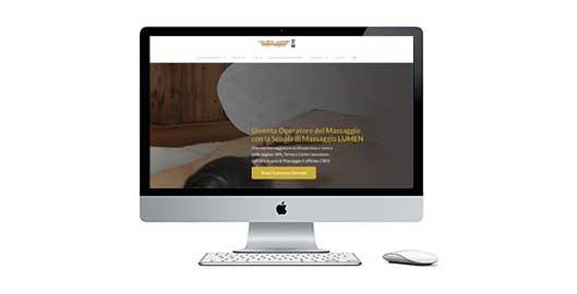 Il nuovo sito della Scuola di Massaggio LUMEN è online