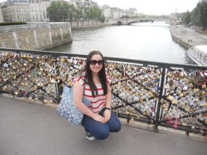 Hanging out by the love padlocks near Notre Dame, 2012