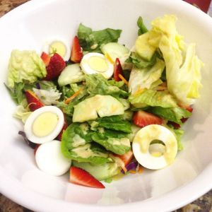 You can throw together a salad so quickly with whatever ingredients you have!