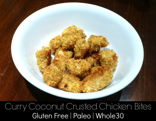 Curry Coconut Crusted Chicken Bites