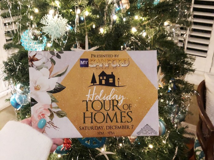 Sanford Holiday Tour of Homes | WellnessAndWanderlust.net