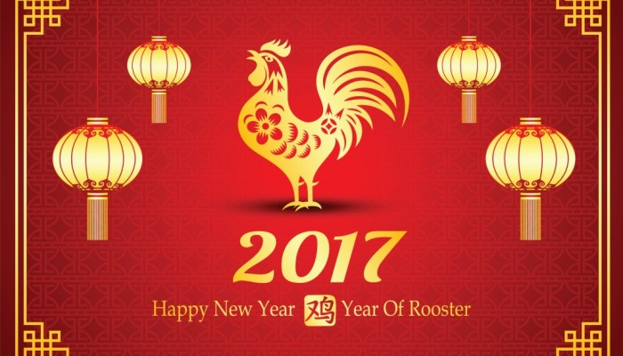 Chinese New Year of the Rooster 2017 Luck