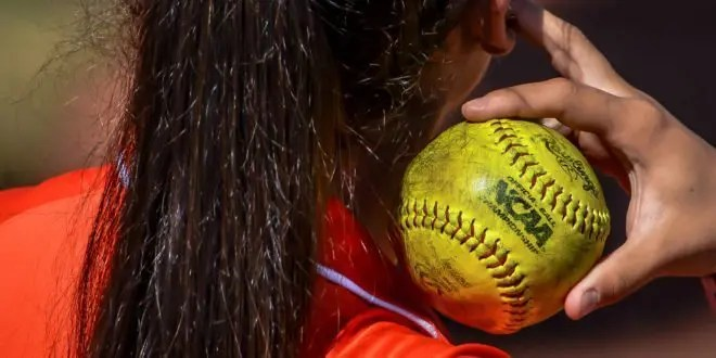 blog picture of college softball pitcher