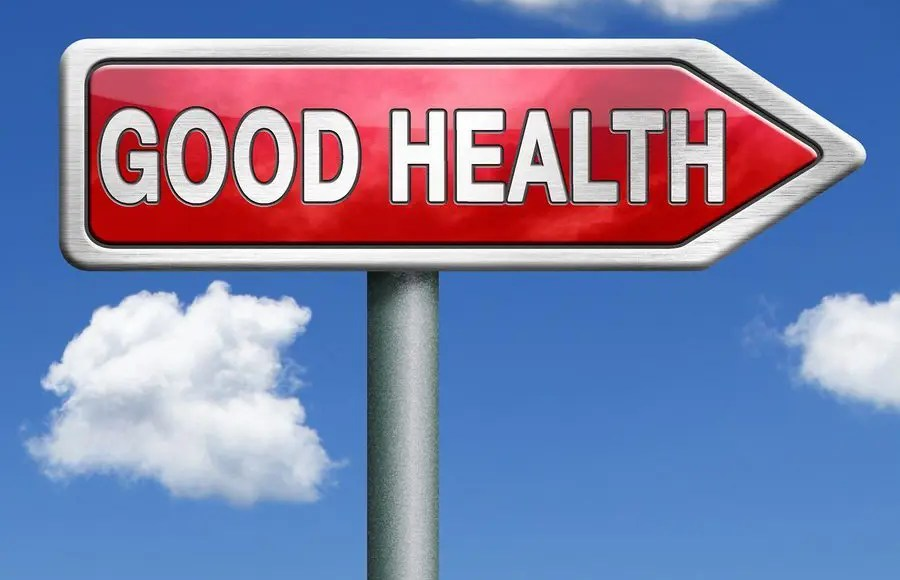 blog picture of sign that reads good health