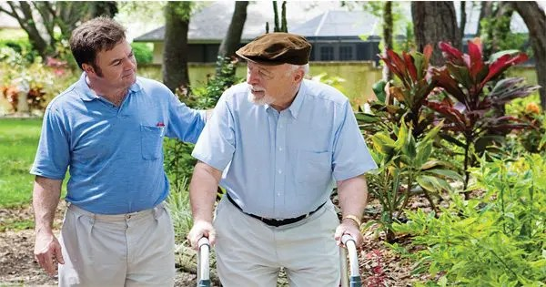 blog picture of elderly man with walker