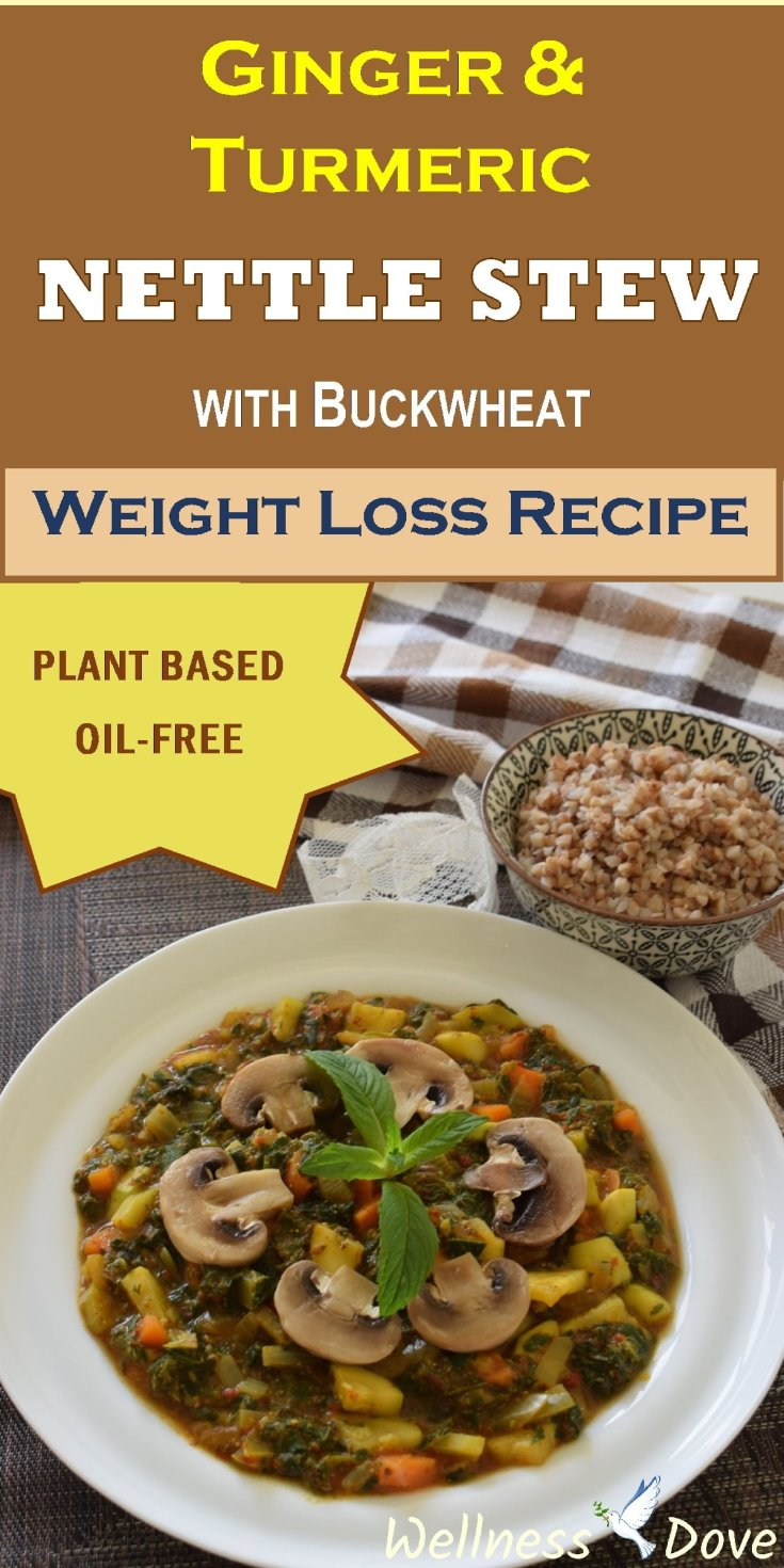 Ginger Turmeric Nettle Stew with Buckwheat