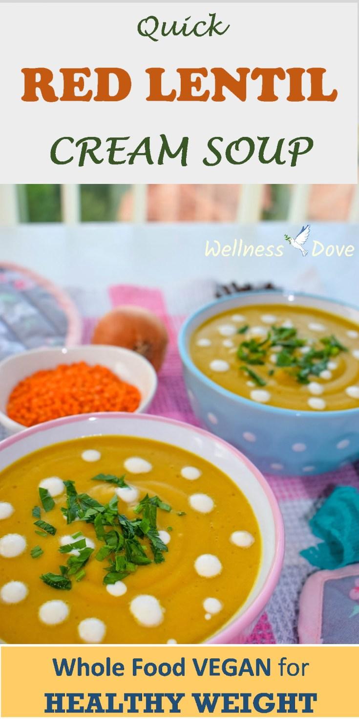 Quick Red Lentil Cream Soup