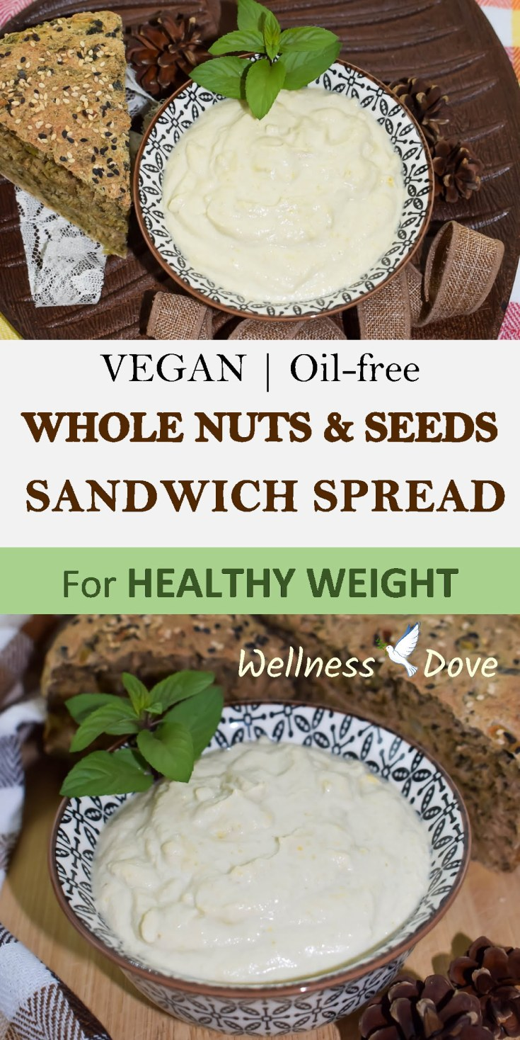 Whole Nuts & Seeds Sandwich Spread | Whole Food Vegan