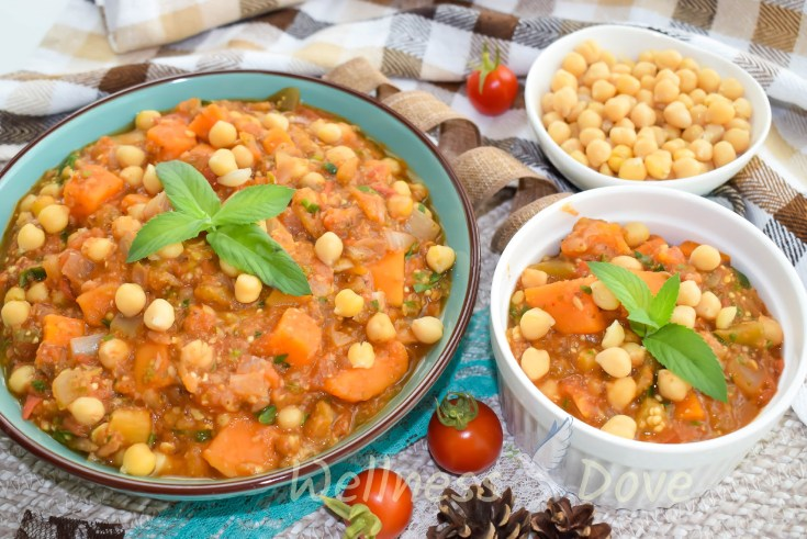 Healthy Chickpea Eggplant Stew with Sweet Potato | Whole Food Vegan