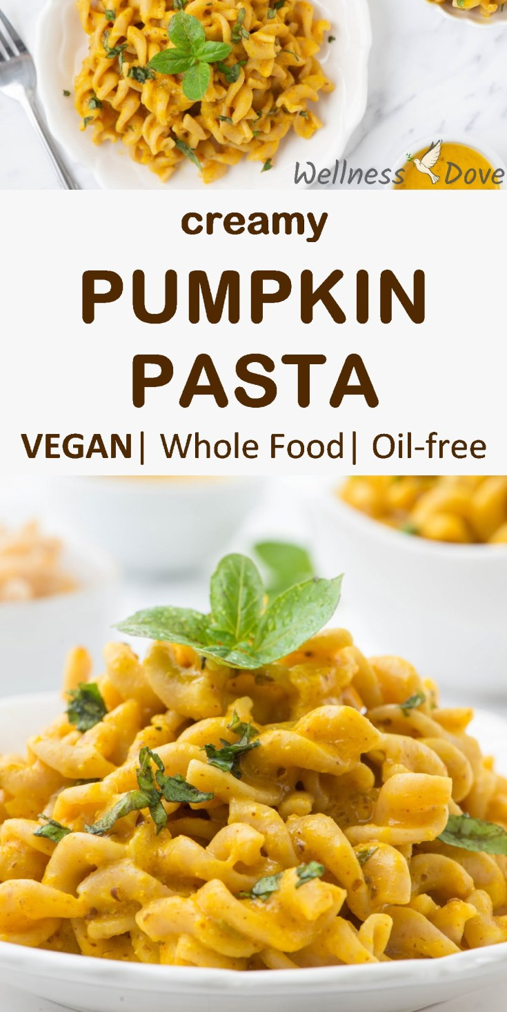 Butternut squash mixed with onion and garlic, seasoned with basil, rosemary, turmeric, and other magnificent spices makes this creamy vegan pasta even more delicious. A whole food meal with natural plant ingredients that will keep you healthy, satiated and satisfied!