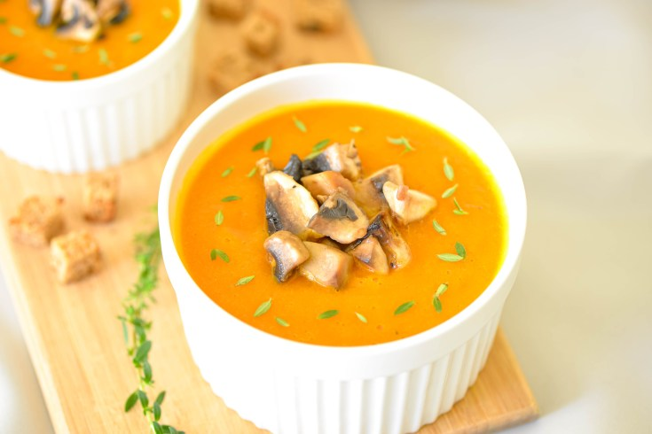 Healthy Carrot & Curry Cream Soup