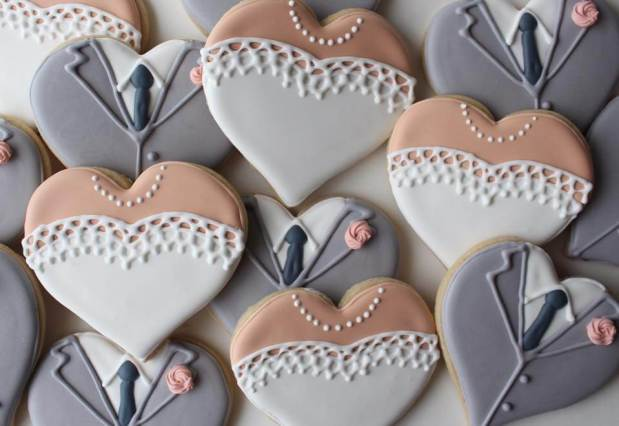 sweet lil cookie wedding cookies