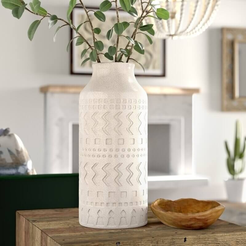 wayfair holiday home decor; floor vase