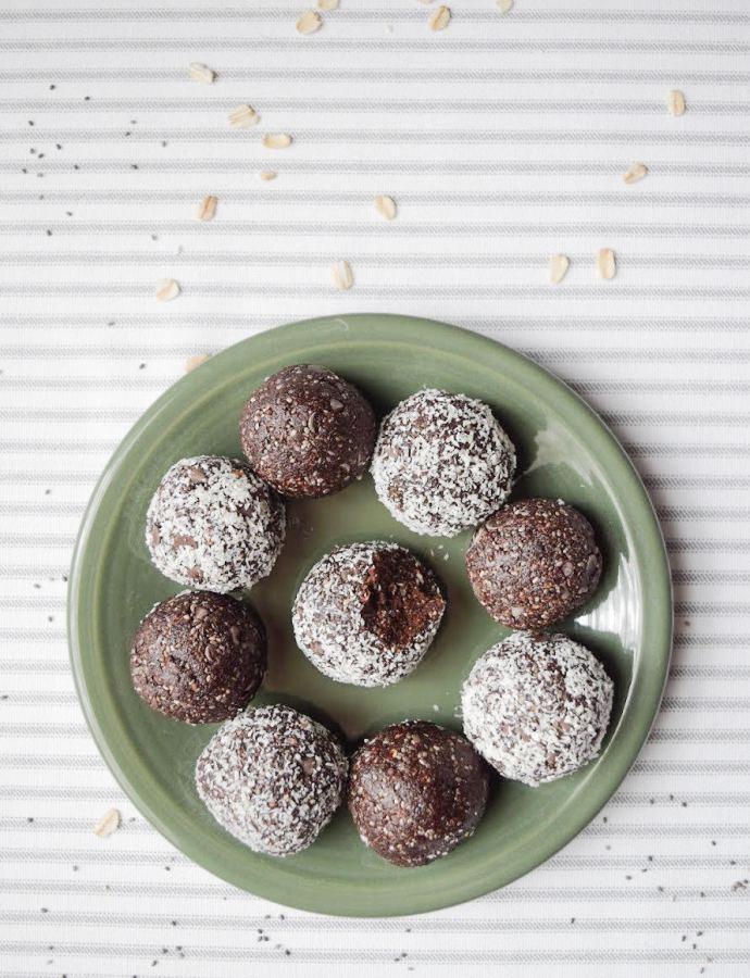 No-Bake Chocolate Coconut Energy Bites