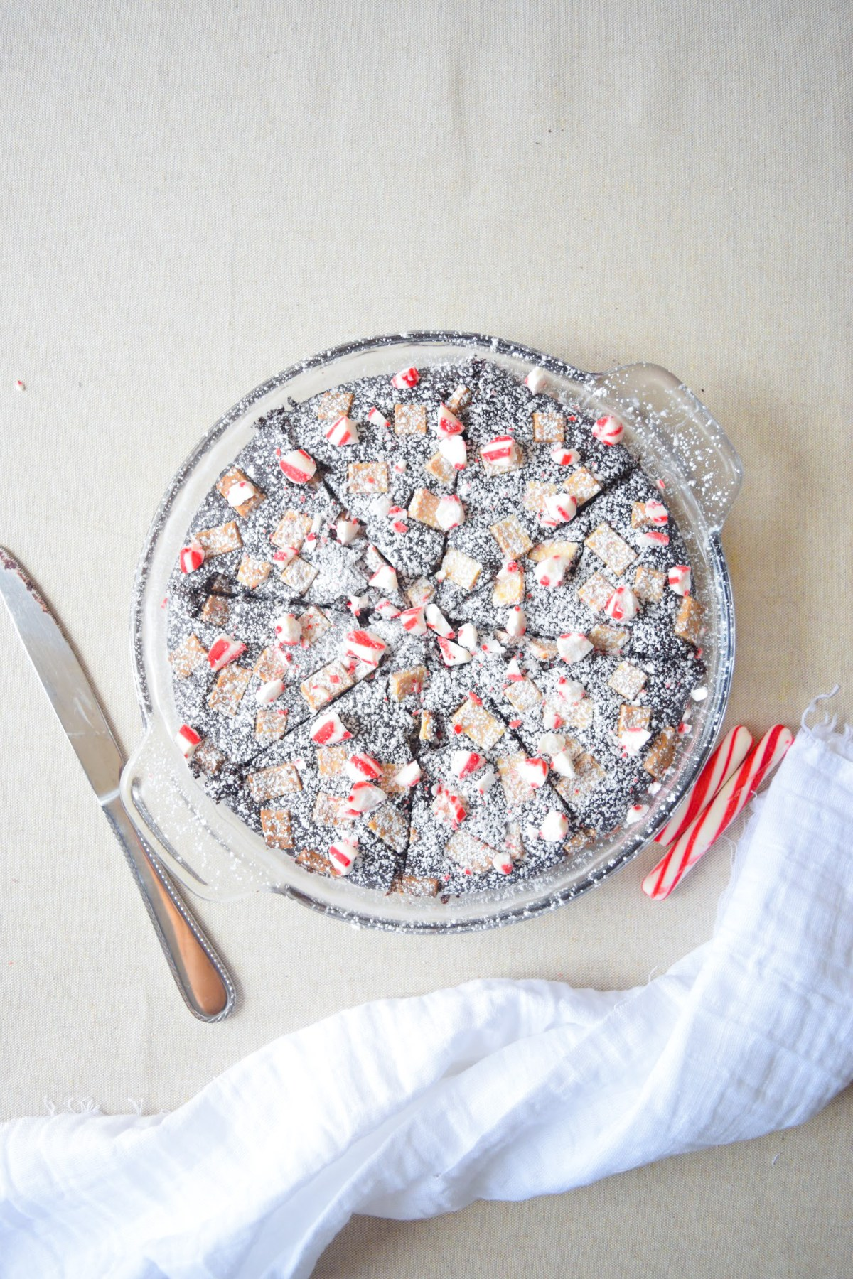 Round pan brownies peppermint Christmas