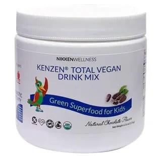 Packaging of Kenzen Total Vegan Drink Mix