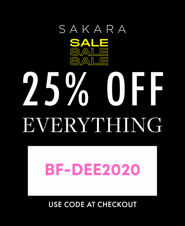 This is not a drill! The Sakara Black Friday Sale is happening NOW. Exclusive discounts for YOU + a gift guide for those on the 'nice' list! 25% off with code: BF-DEE2020