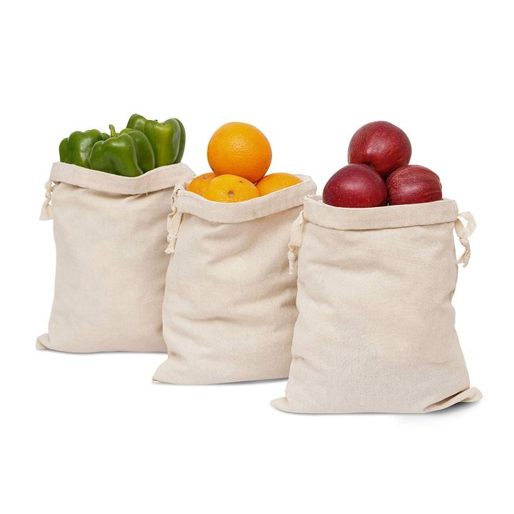 100% Cotton Multipurpose Canvas Produce Bags