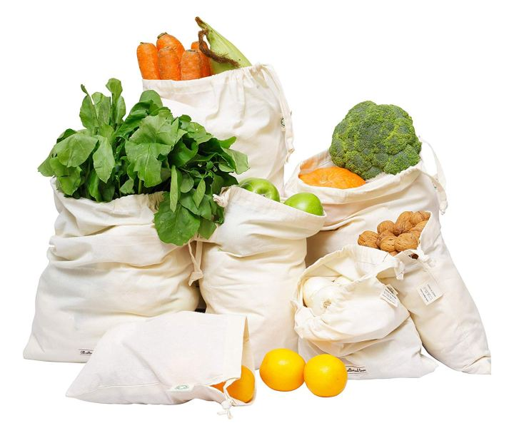 Organic Cotton Reusable Food Storage Bags