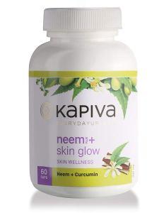 Kapiva Ayurveda 100% Organic Neem + Skinglow Capsules Skin Wellness