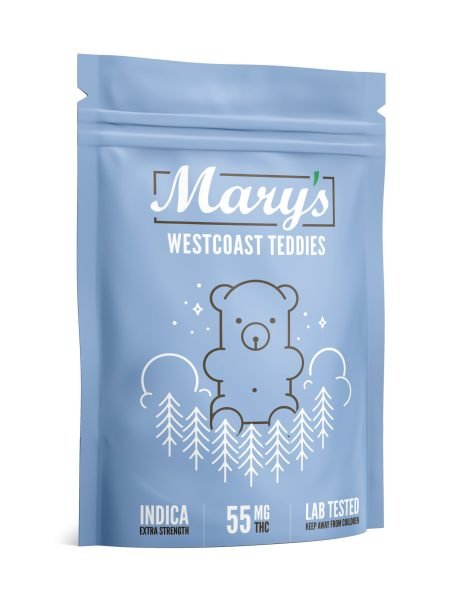 Wellness Lifestyle Mary's West Coast Teddies 55mg