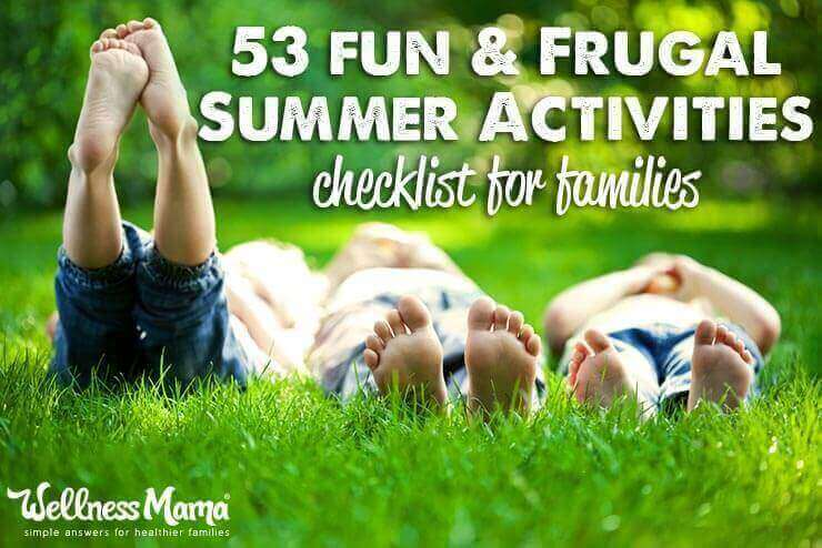 53 Fun and frugal summer activities for children 53 Fun Family Summer Activities Checklist