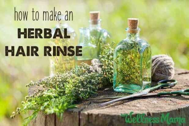 How to make an herbal hair rinse