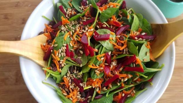 asian color burst salad