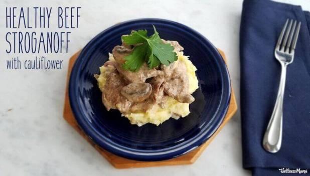 healthy beef stroganoff cauliflower