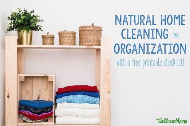 Natural Cleaning and Organizing with Checklist