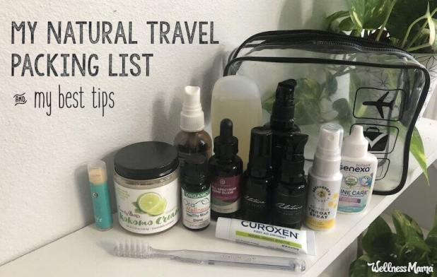 natural travel packing list