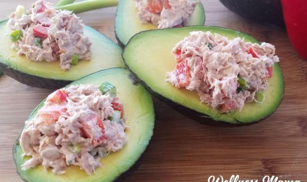 tuna stuffed avocado bowls