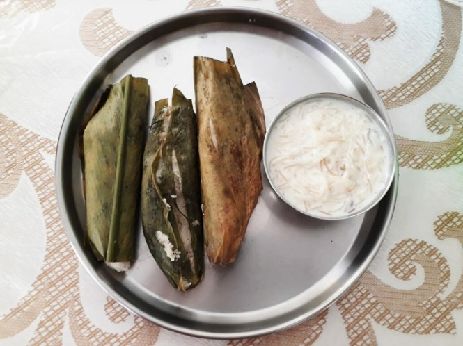 HaldiPitha or EnduriPitha - serve with kheer
