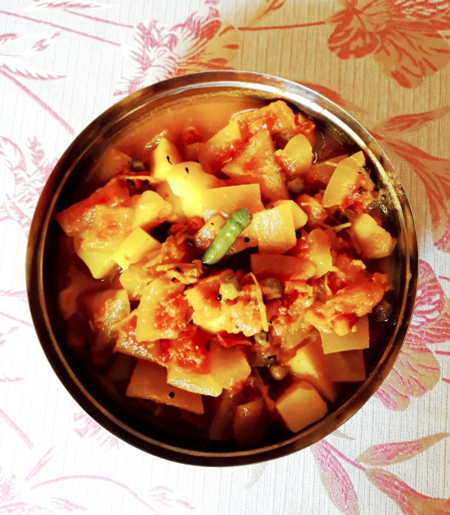 mixed veg curry using watermelon rind