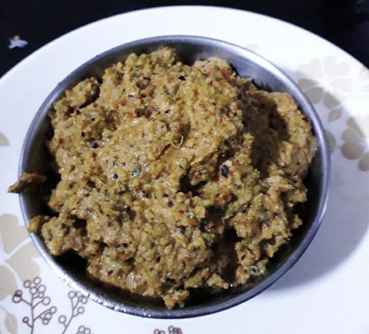 Ridge gourd (Turai)peel chutney or Beerakai thoka pachadi