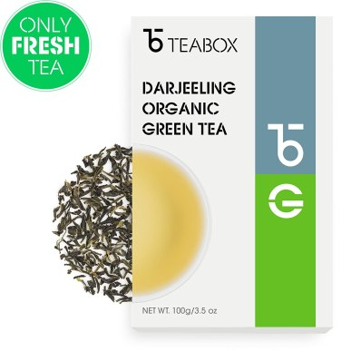 tea box organic darjeeling tea