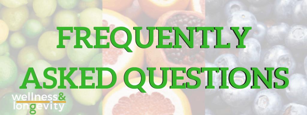FAQ's Wellness and Longevity - Dr Paul Rothwell