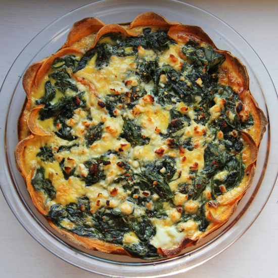 sweet potatoe quiche