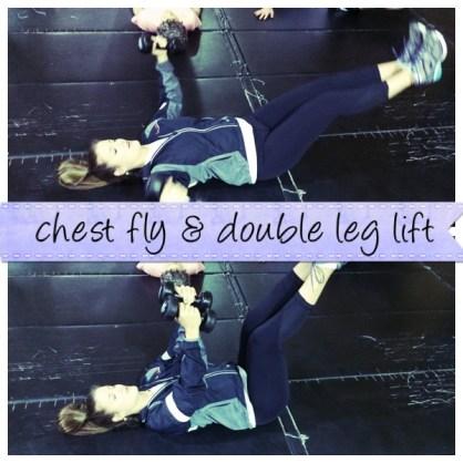 Chest Fly + Double Leg Lift