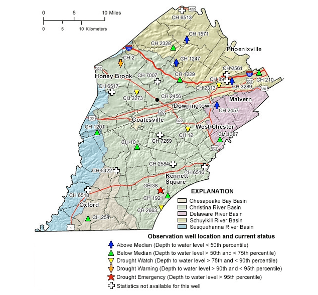 PCCD well data at USGS