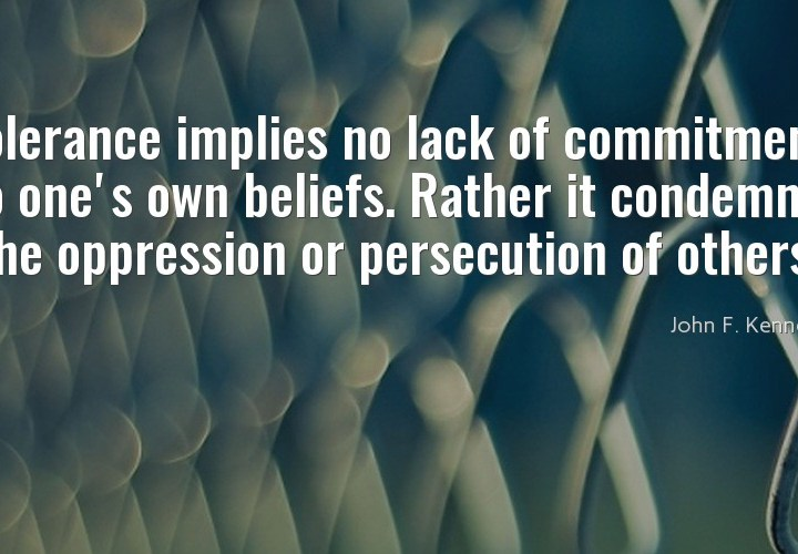Tolerance implies no lack