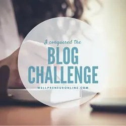 Blog Challenge Badge 1