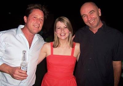 Robert Newton (writer), me and Steven Herrick (poet)